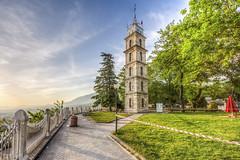 Bursa (Nejdet Duzen) Tags: park city trip travel turkey outdoor türkiye clocktower hdr bursa tophane turkei seyahat şehir saatkulesi
