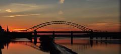Bridge Sunset (Keo6) Tags: runcornbridgesunsetcoloursreflections