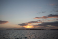 Dawn arrival in the Bay of Islands