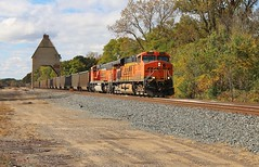 Autumn at the Coaling Tower (BravoDelta1999) Tags: railroad train michigan railway peremarquette co coal pm ge bnsf coalingtower csx newbuffalo burlingtonnorthernsantafe chesapeakeohio 6029 es44ac grandrapidssubdivision