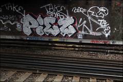 Piez (Alex Ellison) Tags: urban graffiti boobs railway chrome graff southlondon trackside piez