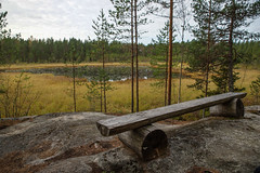 A place for a pause (TimoOK) Tags: lake suomi finland pond woods hiking path route mets kuni jrvi lampi vaellus polku reitti ostrobothnia korsholm