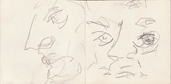 als die Welt zurck kehrte fehlten die Farben. Da waren Menschen. Warum sahen sie ihn an (raumoberbayern) Tags: summer bus pencil subway munich mnchen sketch drawing sommer tram sketchbook heat ubahn draw bleistift robbbilder skizzenbuch zeichung
