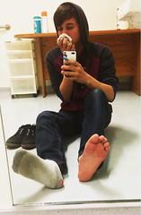 Boys dirty feet (Regina mills EQ) Tags: feet dirty smelly dirtysocks holeysocks boyfeet smellysocks teenboyfeet
