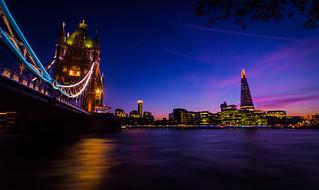 Dusk at Tower Bridge