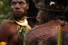 Iatmul dancers in Tambanamun (puuuuuuuuce) Tags: dancers papuanewguinea sepik scarifications iatmul