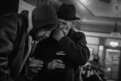 Pass It On (mecenas zielon) Tags: friends blackandwhite music home beer manchester 50mm pub community live band streetphotography blues meeting goodtimes hulme thejunction whalleyrange allforfun wojciechzielenkiewicz