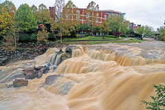 Reedy River High (48) (V-rider) Tags: bridge sc water rain river flow rocks downtown trail waterfalls ralph current greenville muddy reedy rhm swamprabbit waterfll canon6d vrider97 rhmfoto mayerphotoscom rhmphotgraphytllc