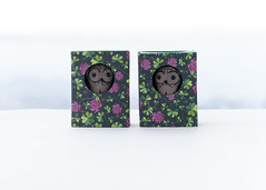 clower boxes (free_dragonfly) Tags: owl toys cute miniature sewing matchbox art flowers gray handmade