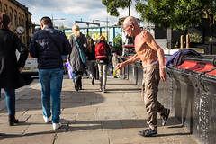Studious avoidance (Ruth Flickr) Tags: camden camdenlock camdentown camdenmarket england faction london uk city dancer eccentric man market old people street