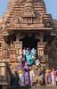 Khajuraho Colours (peterkelly) Tags: digital canon 6d india asia stone temple saris sari colorful colourful colours colors colour color women carving sandstone khajuraho kamasutratemple steps stairs entrance column people
