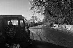 Country Life (scottprice16) Tags: england lancashire clitheroe standen higherstanden lane road quiet country rural landrover defender classic scene working 4x4 winter light january fujix100