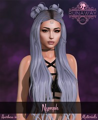 [RA] Nymph @ Hairology (Candela Kira) Tags: mesh meshhair hair hairstyle hud haircolor hairstyles hairbase hairology art accessoire 3d headpiece emogothic emo gothic secondlife sl sweet design dark fantasy fairy game gamecontent grunge content roleplay virtuel