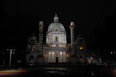 Karlskirche, Vienna (No_Mosquito) Tags: karlskirche church catholic saint charles vienna wien austria europe city night winter dark canon powershot g7x historic landmark mark ii