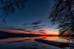 A Sunset Before Christmas (Antonio Ferrario (Fidati del Ferro)) Tags: lago tramonto rosso passerella lake sunset redpier pier