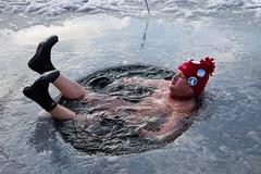 . (Joanna Mrowka) Tags: winter bath cracow poland wośp swimming