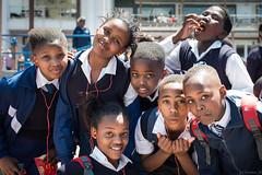 Enjoying a schooltrip... (crispin52) Tags: boys girls youngsters students schooltrip capetown nikon portrait uniform
