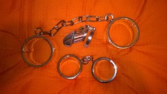 WP_20161220_20_51_02_Pro (gasmask73a1) Tags: cuffs handcuffs steelcuffs feetcuffs shackles legirons bondage bdsm chastitycage cockcage bon4 steelbondage
