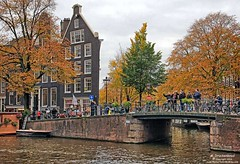 Narrow Canal House on the Prinsengracht Canal in Amsterdam (PhotosToArtByMike) Tags: prinsengracht canal jordaan amsterdam canalhouse canalring grachtengordel netherlands dutch holland dutchgoldenage
