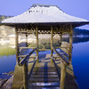 Blue Hour Gazebo (Decaseconds) Tags: night longexposure gazebo wood snow bridge mohonk mountain house newpaltz newyork