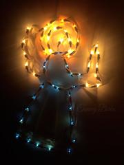 Heavenly Host (Tammy Borko Photography) Tags: angel lights christmas christmaslights tammyborkophotography tammyborko borko angelic glowing glory blue decoration