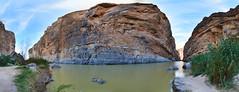 Rio Grande @ Santa Elena Canyon (BongoInc) Tags: bigbendnationalpark chihuahuandesert westtexas cactus desertlandscape