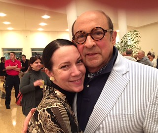 Collectors Adrienne bon Haes and Marvin Ross Friedman at the Knight Center concert with Chick Corea