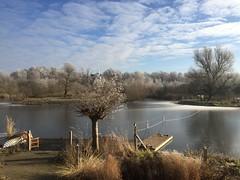 Beautiful winter landscape in Holland
