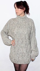 Sexy girl in oversize turtleneck sweater (Mytwist) Tags: roseboutique2013 turtleneck rollneck rollkragen aran irish fisherman style fashion passion modern timeless euc mytwist sexy retro grobstrick handknitted handcraft cabled cozy classic aranstyle heritage bulky ivory cream woolfetish wool knitwear fetish female fuzzy sweatergirl