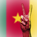 Peace Symbol with National Flag of Cameroon