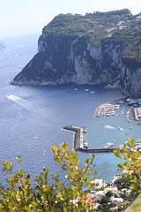 green impulse (Riz Farooq) Tags: blue impuls amalfi coast water sea ocean marina harbor mountain boat boats ship ferry
