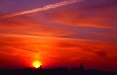 Parisian Sunrise... (law_keven) Tags: sunrise paris france clouds red orange sun parisian silhouettes silhouette