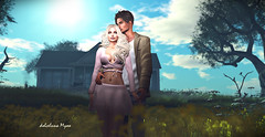 SpringContest~whit you~Springtime (dolceluna_myoo) Tags: spring contest couples hugs kiss nature soleil flowers garden love passion sensual lovers avatar sl mesh bentohands catwa maitreya tmp poses rk secondlife