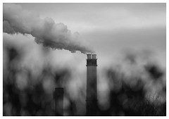 Steam (awbaganz) Tags: steam heatingplant funnel chimney berlin germany europe wind sky fuji xt1 xf18135