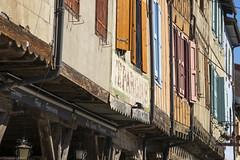 Mirepoix La place centrale avec ses premières maisons datant du XIème siècle. (ChristianLeduc) Tags: 09 2017 ariége bastide france hiver midipyrénées mirepoix occitanie