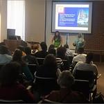 Dr. Barro introduces Rachel Fischer at CAS brown bag