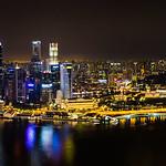 Panorama depuis la terrasse de l' Hôtel Marina Bay Sands (150 m) - Singapour thumbnail