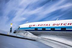 DC-3 PH-PBA resting at the apron (Dennis-Dieleman) Tags: old blue sky white colors beautiful dutch clouds rivets aviation engine royal klm douglas airlines dc3 schiphol dakota bernhard prins phpba