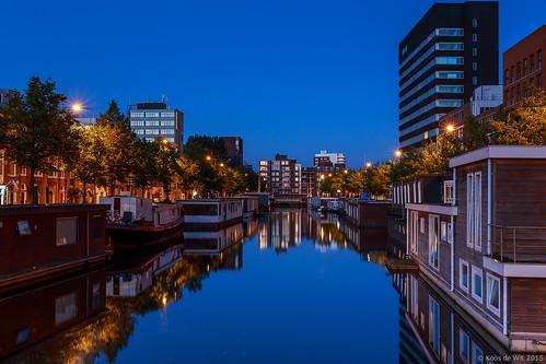 Eendrachtskanaal at blue hour, Groningen