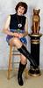 DSC05887 (msdaphnethos) Tags: tv boots cd tgirl transgender transvestite hosiery gogo brunette crossdresser crossdress nylons minidress daphnethomas