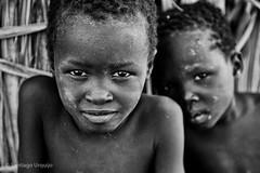 Turkana boys (Zalacain) Tags: africa portrait blackandwhite kenya retrato laketurkana loyangalani