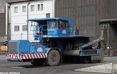 Slag pot carrier (The Rubberbandman) Tags: blue truck germany big industrial factory outdoor slag steel machine storage special pot machinery claw german vehicle bremen coil carrier bigger transporter grabber ladle arcelor steelmill detlef mittal arcelormittal hegemann kirow pc80 coiltransporter