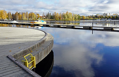 Joensuu - Finland (Sami Niemelinen (instagram: santtujns)) Tags: city colors suomi finland river boat colours north autumm joensuu syksy vene joki karjala kaupunki ilosaari carelia vrit pohjois pielisjokis