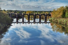 The Weir (Keo6) Tags: riverweavercheshireweirwatersunny