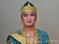 2013-11a Javanese Artists (07) (Matt Hahnewald) Tags: portrait artist costume headgear wayangwong wayangorang dancer ethnic posing primelens physiognomy psychological closeup consent cultural character makeup bodylanguage fun handsome flash male indoor eyes matthahnewaldphotography face facingtheworld horizontal head indonesia mahabharata nikond3100 ramayana sriwedari surakarta 50mm oneperson expression headshot nikkorafs50mmf18g 4x3ratio 1200x900pixels resized lookingatcamera colour colourful