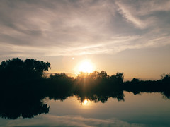Sunset (rm005759) Tags: travel trees sunset summer sky sun lake nature water clouds reflections river evening shot kazakhstan kz vsco almatyregion iphonegraphy shotoniphone vscofilm vscocam