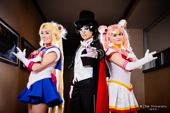 Sailor Moon (), Tuxedo Mask () & Chibiusa Tsukino ( ) (btsephoto) Tags: portrait moon anime lens hotel dallas costume texas fuji play mask animefest cosplay iii flash tuxedo r chiba convention fujifilm sailor 1855mm sheraton lm fujinon  xf mamoru ois  chibiusa afest tsukino xt1 f284  yongnuo  yn560