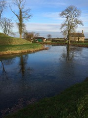 Frozen water at Lyveden (dark_dave25) Tags: new november cold sunny national trust sloes 2015 lyveden bield