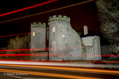 Light Trails (MarkRoberts58) Tags: light england castle night shoot shropshire trails photographic welsh society ops gatehouse marches oswestry whittington