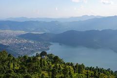 Pokhara at Phewa Lake (Poxxel) Tags: nepal pokhara sarangkot phewalake